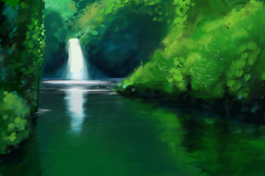 waterfall by RedGrasss