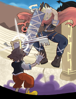 Kingdom Hearts: Cloud vs Sora by AlSanya