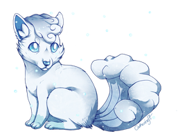 Alolan Vulpix by CatherineSt