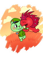 Happy Tree Friends: Round and Around by ArtsyGumi