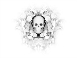 Baroque Style Skull 01 - Ambient Occlusion by pixelchemist