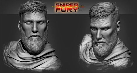 SNIPER FURY clay by manerarts