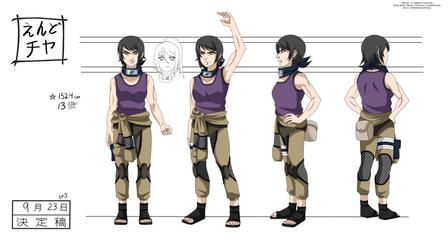 Model Sheet Commission - Chiya Endo by JoTehDemonicPickle