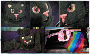 Sparkley Grey Poptart Nyan Cat Partial (2010) by Eternalskyy