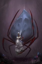 Lolth, the Spider Queen by RynkaDraws
