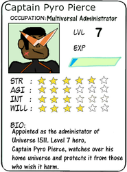 Captain Pyro Pierce POW card Back: Stats and Facts by pyroman7