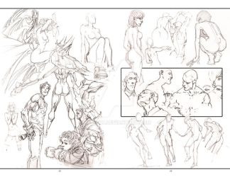 2012 Sketchbook: Evolution pages 44 and 45 by HeyCat