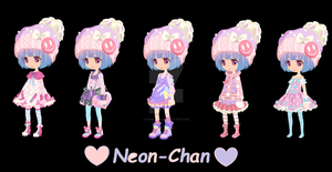 New oc-Neon-chan by Chibii-chii