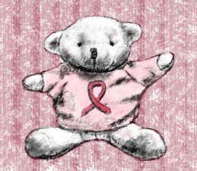 Cancer Society Bear by JKBH