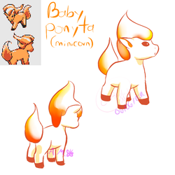 Beta baby Ponyta (Minicorn) by Alexxxa4