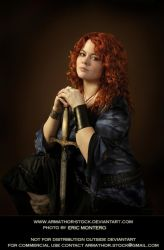 Redhead Warrior 1 by Armathor-Stock