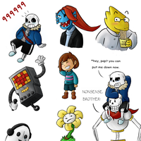 Undertale Doodles by AttackGoose