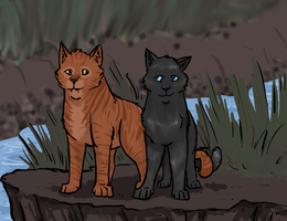Shimmerpelt and Piketooth by Teahorse