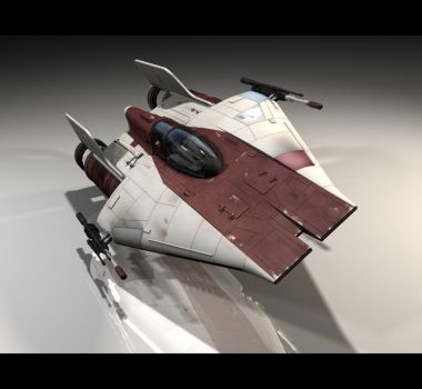 Star Wars: A-Wing Fighter by WoodyLWG