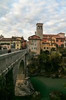 ponte sul fiume by Sliggo