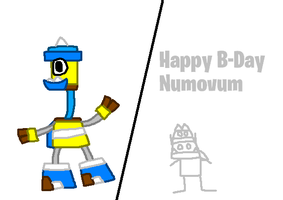 Mixels: Illumineck (GIFT) + Happy B-Day Numovum by Luqmandeviantart2000