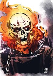 Ghost Rider sketch by MarcLaming