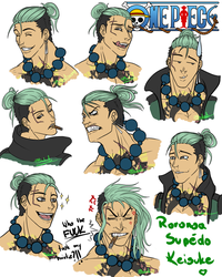 One Piece- Keisuke's Expressions by R-Blackout