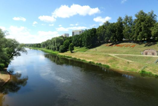 River in Valmiera by MASYON