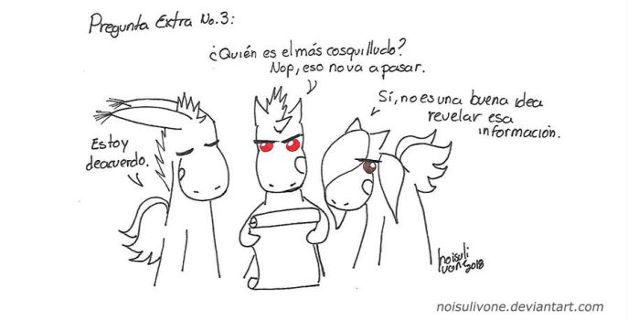 Pregunta a Angry Unicorn: extras 3 by noisulivone