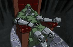 Dr DOOM Chillaxing by jeffwamester