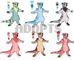[2/6 OPEN] Otter Adopts! by StardustSane