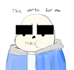 you draw sans eyebrows to big by Atomic52