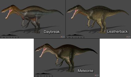 [The Isle] Suchomimus Skin Pack #1 by Phelcer