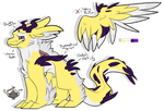 [Adoptable: Closed] Jolteon inspired D.A.D. by CanadaLine