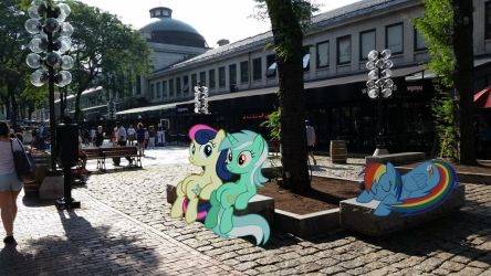 Bench Ponies by TheDoubleDeuced