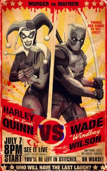 Harley Quinn v Deadpool by m7781