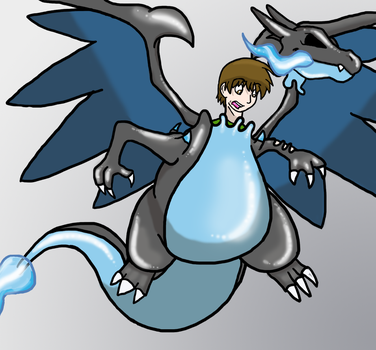 Rubber Mega Charizard X Suit TF by Auroracuno