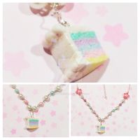 Sparkle Rainbow Cake Necklace by DreamyNebula