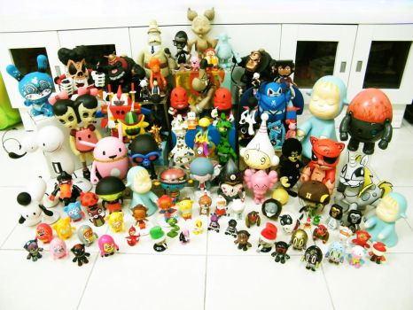 My Designer Vinyl Toys Collection - 1 by naugthy-devil