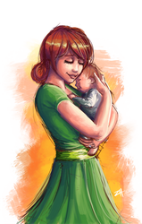 COMMISSION - Mama Penny (Stardew Valley) by itftjte