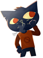 Mae [A Night in the Woods] by Autumn-paws