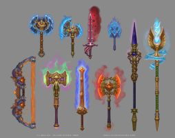 Allods Online Demon City Weapons by Sokil-Su