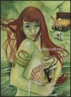 Mermaid's Treasure ACEO by Katerina-Art
