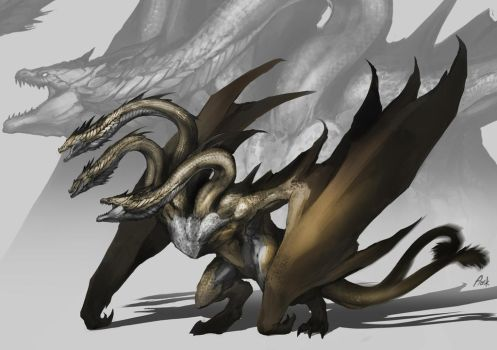 King Ghidorah by DoomGuy26