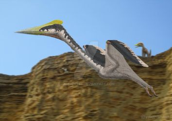 Eurazhdarcho (unwelcome Hatzegopteryx visitor) by paleopeter
