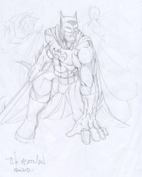 the batman pencils by krowkid