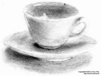 Cup and Saucer by midiman
