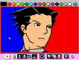 Mario Paint: Phoenix Wright by emiliosan
