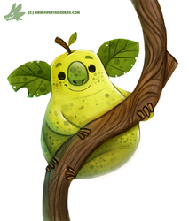 Daily Paint #1171. Koala Pear by Cryptid-Creations