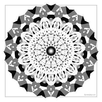 Crochet Snowflake White Version by IsellaHowler