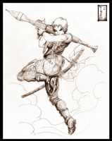 Rocket Propelled Girl by Tatong