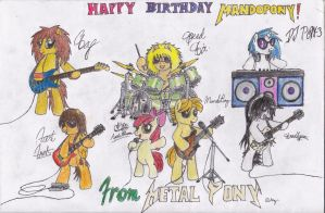 Happy Birthday Mandopony! by PonyAdler86