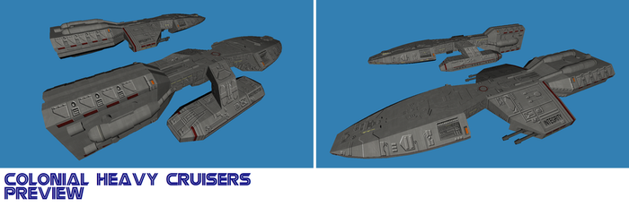 BSG TOS Colonial cruisers pic by Chiletrek