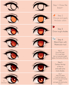 Eyes coloring tutorial v.2.0 by Maruvie