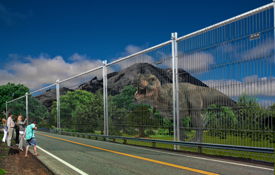 Enclosure of the T-rex Jurassic park by Martinmiguel